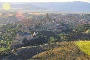 Vuelo globo Segovia desde el aire vistas panorámicas