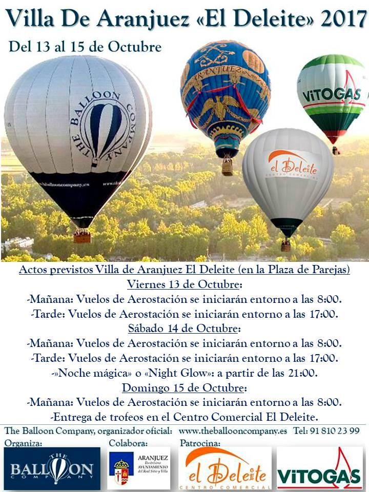 HORARIOS VILLA DE ARANJUEZ EL DELEITE FESTIVAL DE GLOBOS ARANJUEZ (MADRID)