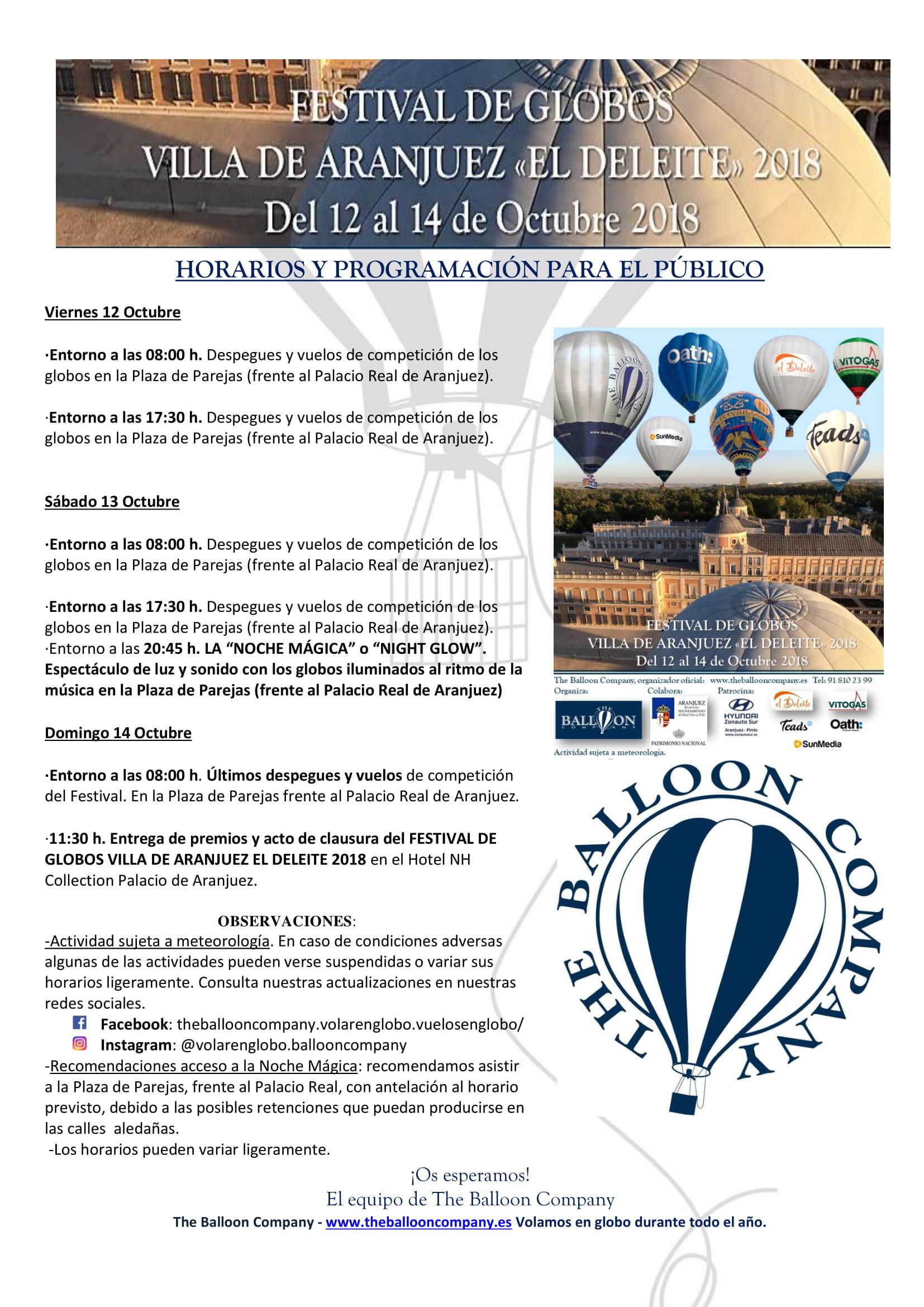 Festival de Globos Villa de Aranjuez El Deleite – THE BALLOON COMPANY