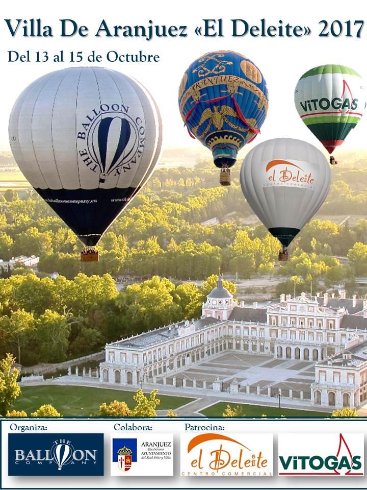 Organización: The Balloon Company Colabora: Ayuntamiento de Aranjuez Patrocina: Centro Comercial El Deleite Vitogas