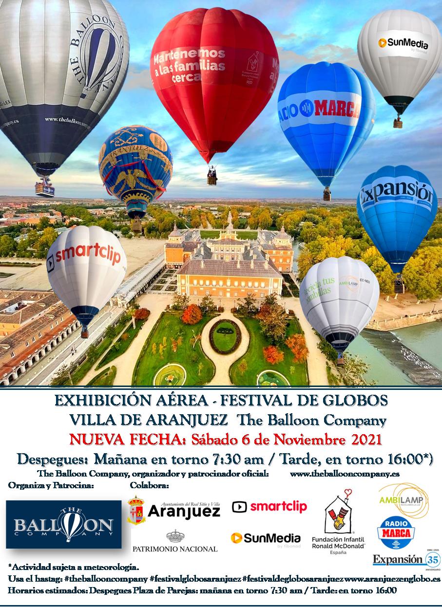 Viaje en globo aerostatico Madrid Festival globos aranjuez