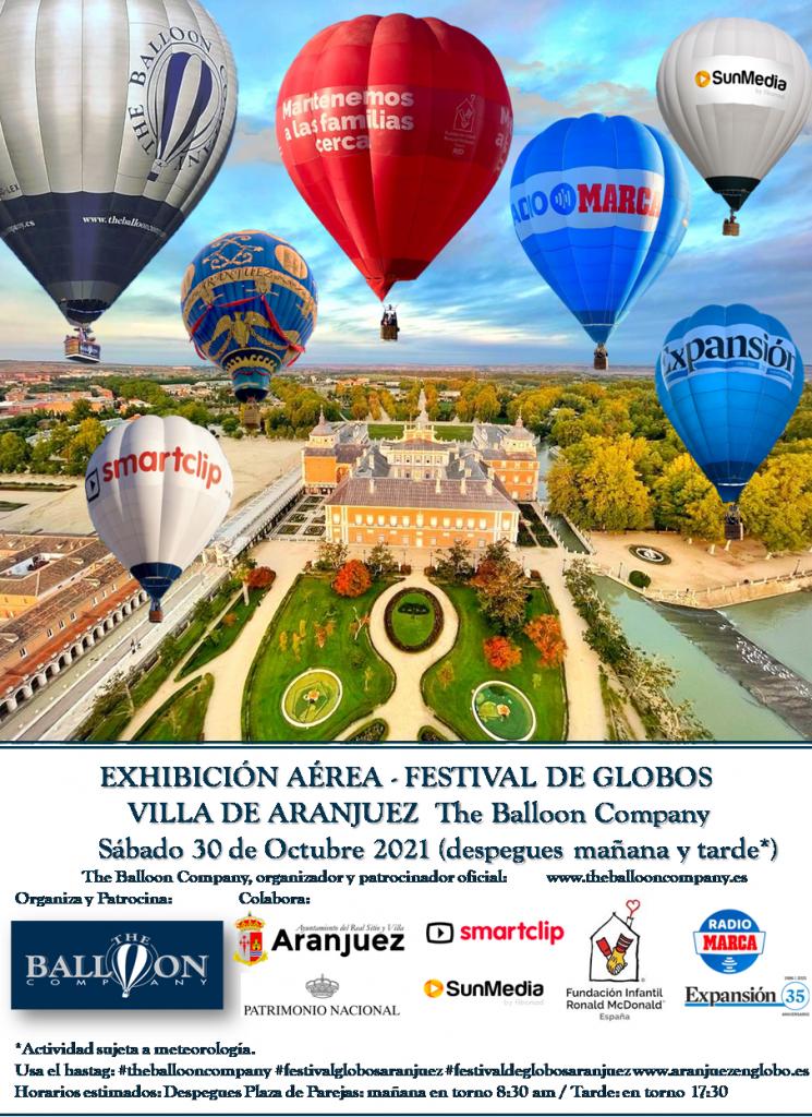 Viaje en globo aerostatico Madrid Aranjuez